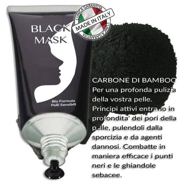 black mask carbone di bambu